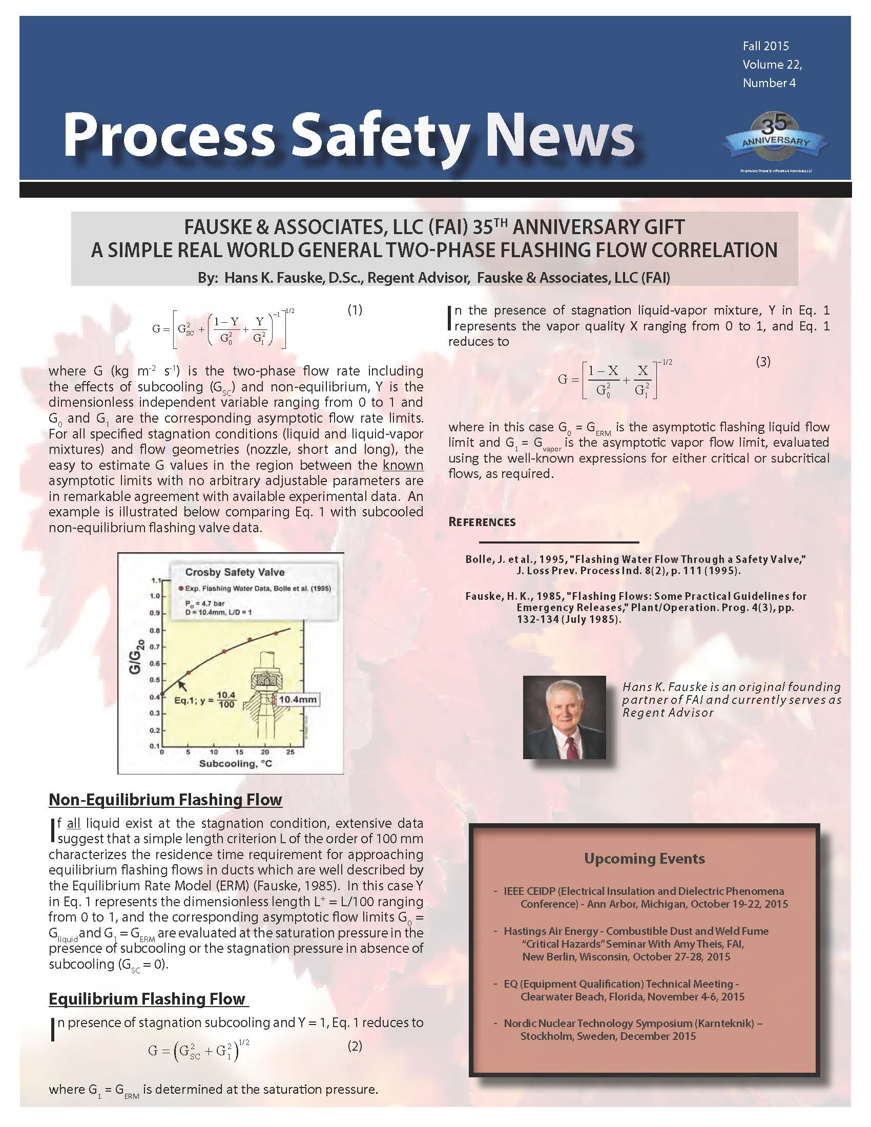 Fall 2015 Process Safety Newsletter